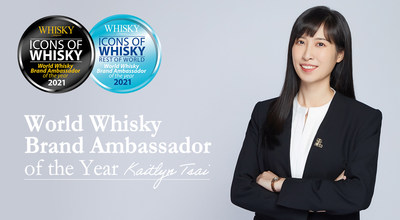 "Kaitlyn Tsai gana su primer premio ""Embajador Mundial de Marca de Whisky del Año"" (""World Whisky Brand Ambassador of the Year"")"