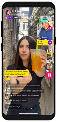 """With its newest feature, """"Live Guide Show"""", Ablo connects you with people from every single corner of this planet. Discover how they live, what they eat and who they are. See the world through the eyes of locals. Ablo - Open Your World."""
