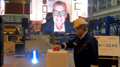 Royal Caribbean marked the official start of construction for its first Icon Class ship at a steel-cutting ceremony in Turku, Finland. Set to introduce a new, revolutionary era of cruising, the state-of-the-art ship will be named Icon of the Seas and debut in fall 2023 as the cruise line's first of three ships to be powered by LNG (liquefied natural gas).